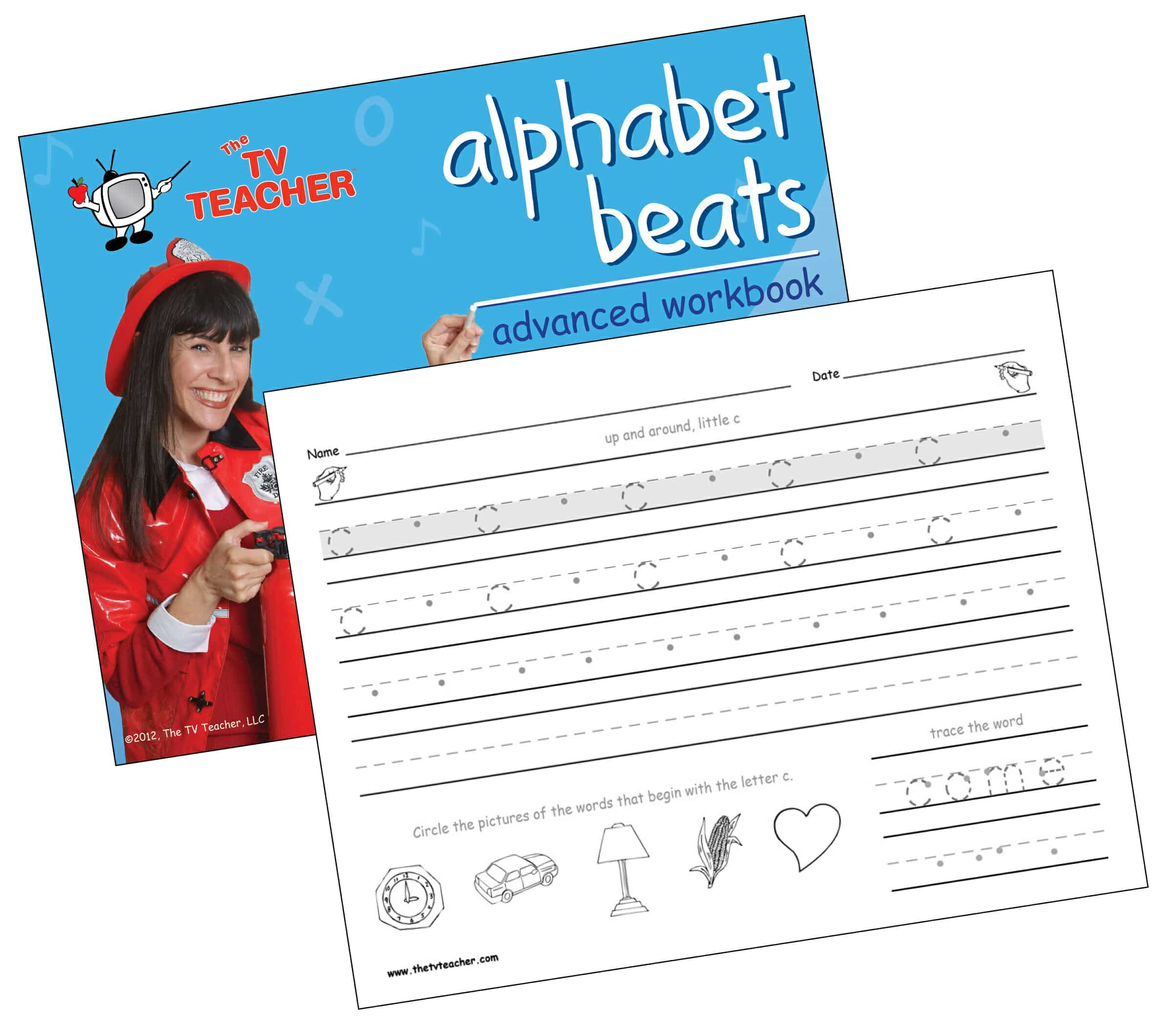TV Teacher lowercase advanced kindergarten handwriting workbook