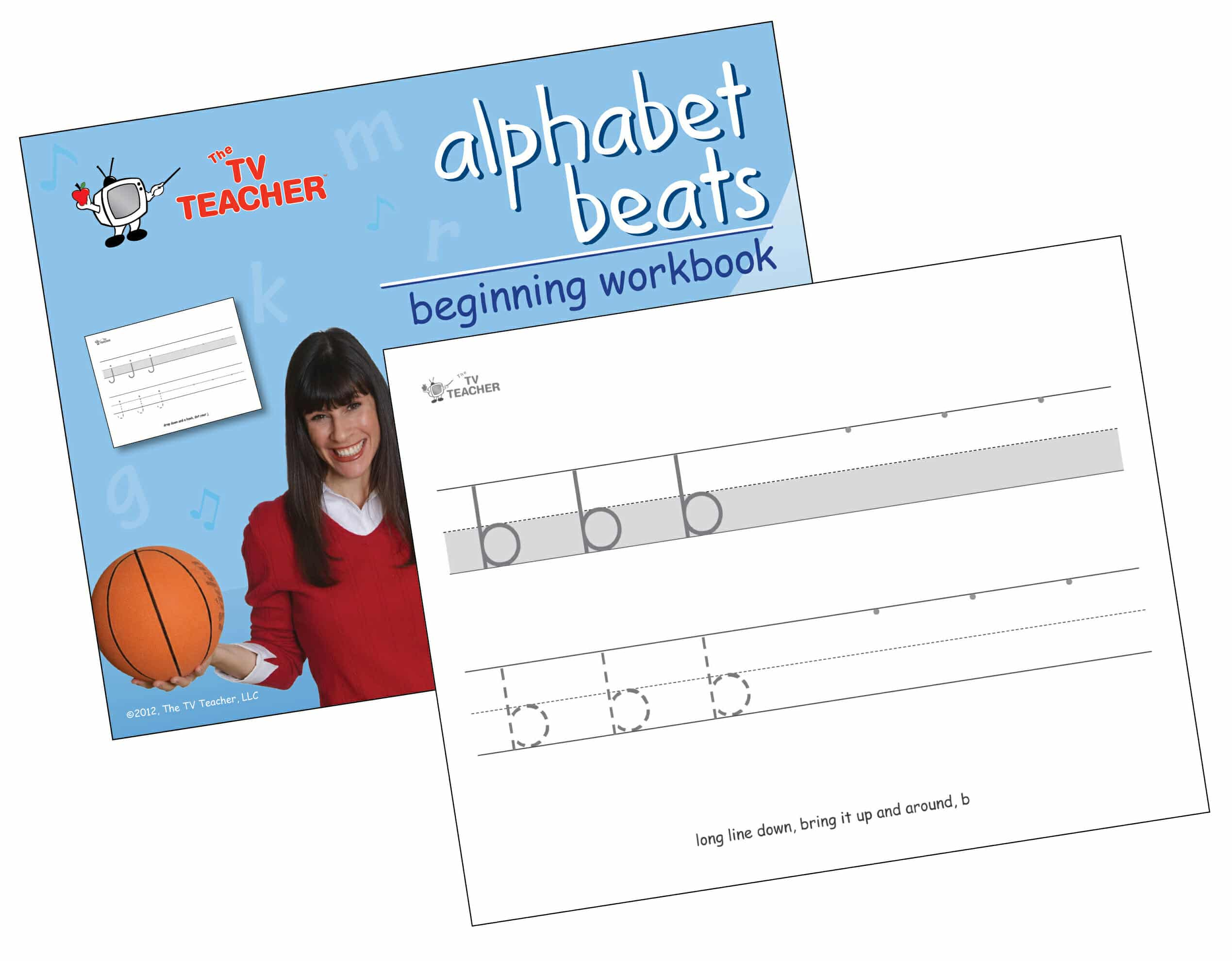TV Teacher lowercase beginning prek and kindergarten handwriting workook