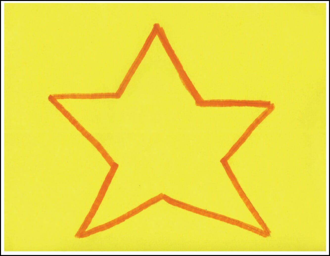 cut a star with Miss Marnie activity in alphabet beats writing curriculum by The TV Teacherabet