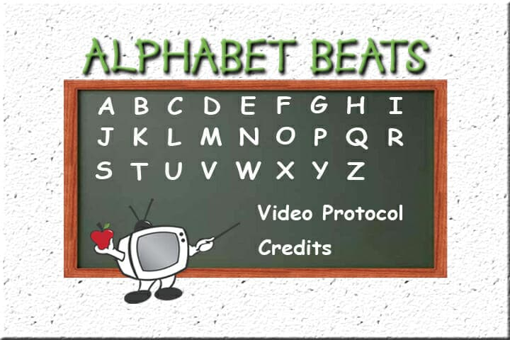 Alphabet Beats uppercase writing program menu