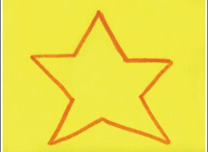 cut a star with Miss Marnie activity in alphabet beats writing curriculum by The TV Teacherabet