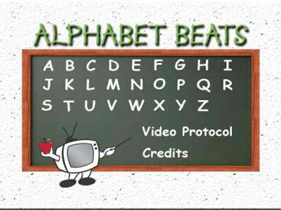 Alphabet Beats uppercase writing program menu